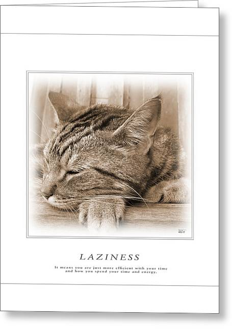 Cat Reflections 2 Greeting Card