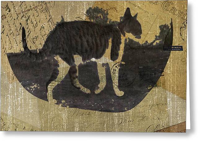 Cat Travels Greeting Card by Kandy Hurley