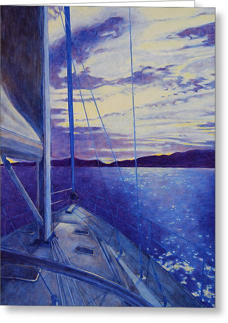 Greeting Card featuring the painting Catalina by Andrew Danielsen