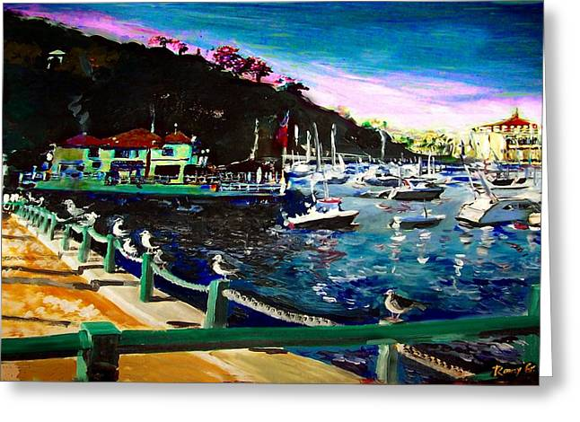 Catalina Island 1 Greeting Card by Rom Galicia