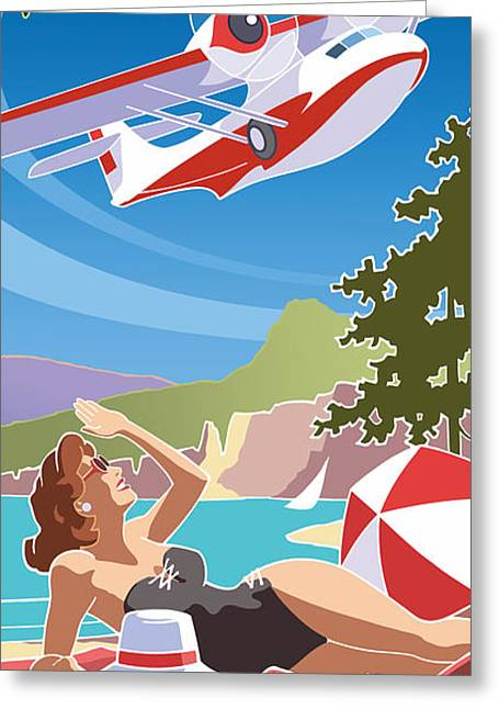 Catalina, Mid Century Travel Greeting Card