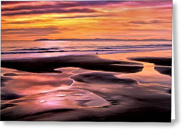 Greeting Card featuring the painting Catalina Sunset by Michael Pickett