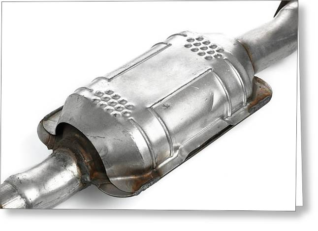 Catalytic Converter Greeting Card by Science Photo Library