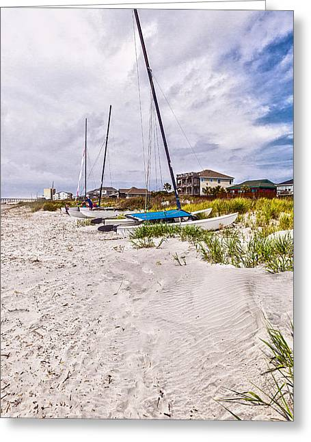 Greeting Card featuring the photograph Catamaran by Sennie Pierson
