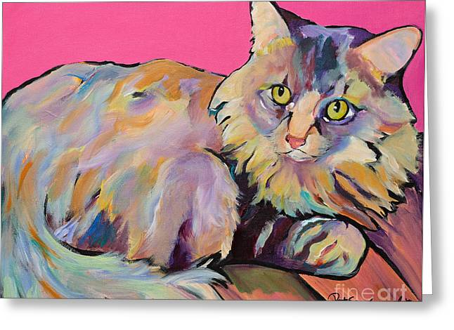 Catatonic Greeting Card by Pat Saunders-White