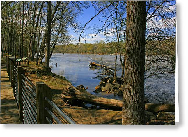 Greeting Card featuring the photograph Catawba River Walk by Andy Lawless