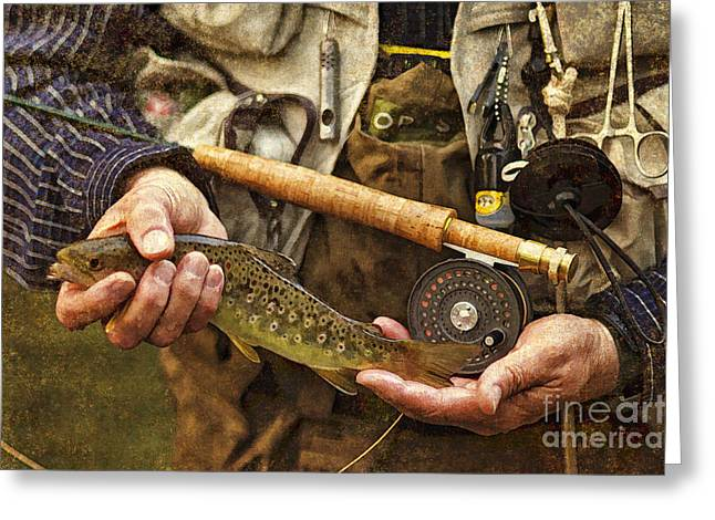 Catch And Release - D001102-b Greeting Card by Daniel Dempster