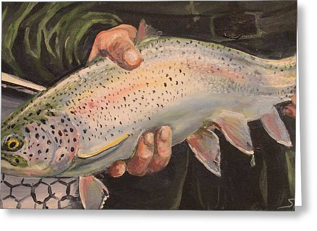 Catch And Release Greeting Card by Scott Thompson