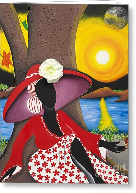Catch Me In The Morning II Greeting Card by Patricia Sabree