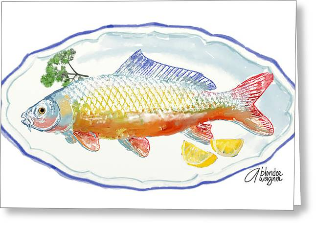 Greeting Card featuring the digital art Catch Of The Day by Arline Wagner
