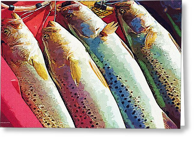 Catch Of The Day Greeting Card by Margie Middleton