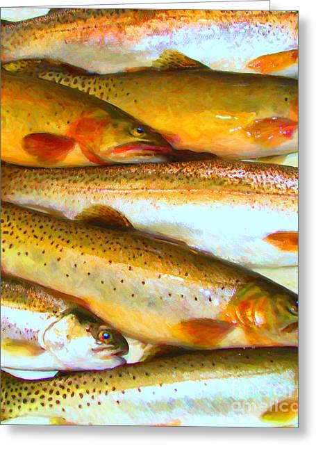 Catch Of The Day - Painterly - V2 Greeting Card