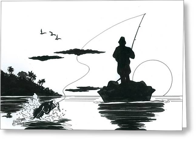 Catch Of The Day Greeting Card by Richard Brooks