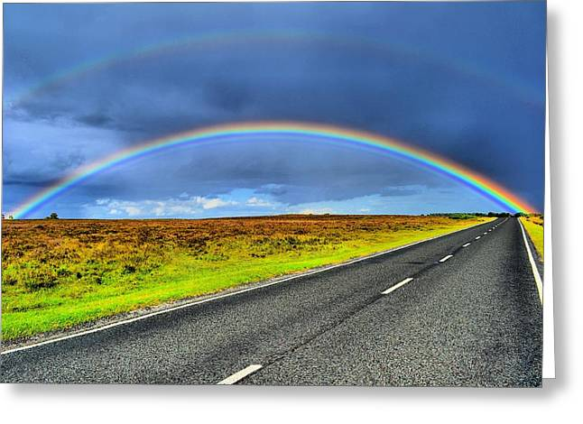 Catch The Rainbow Greeting Card by Dave Woodbridge