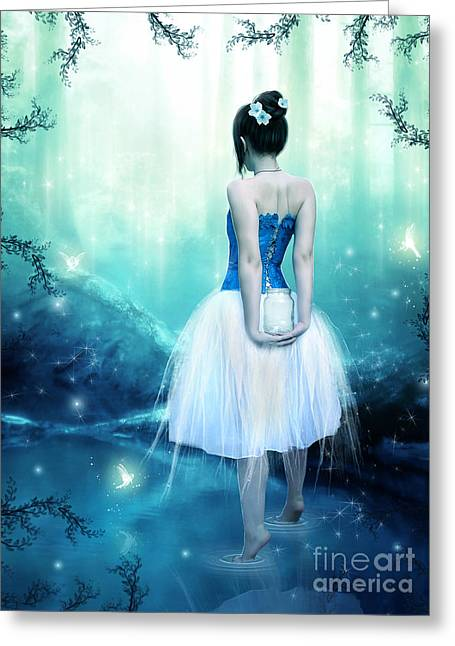 Catching Fairies Greeting Card