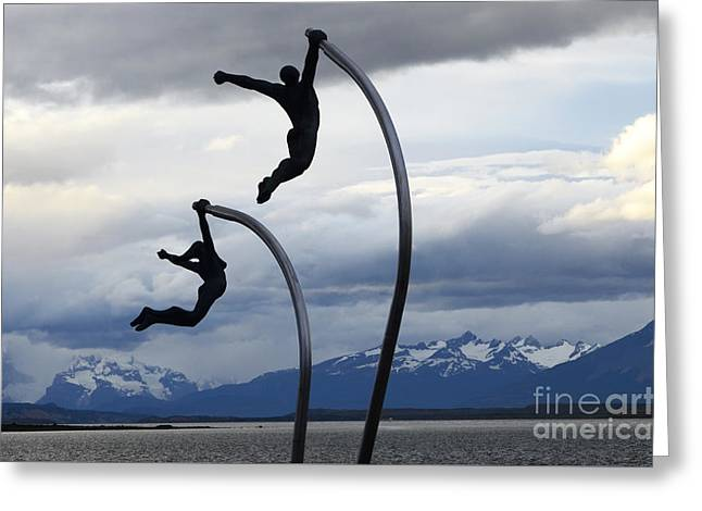 Catching The Wind Patagonia Greeting Card by Bob Christopher