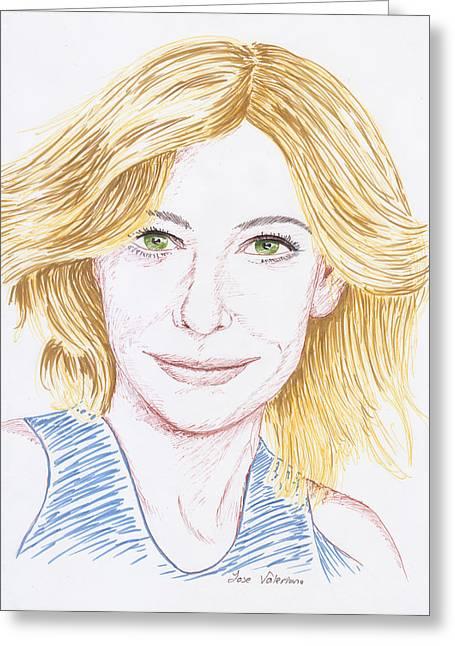 Cate Blanchett Greeting Card