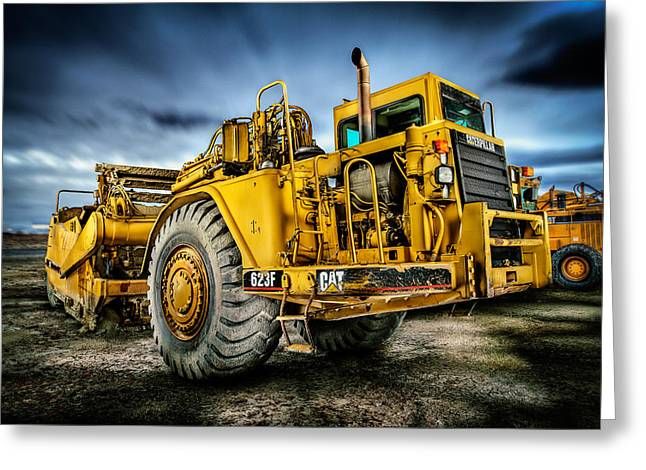 Caterpillar Cat 623f Scraper Greeting Card by YoPedro