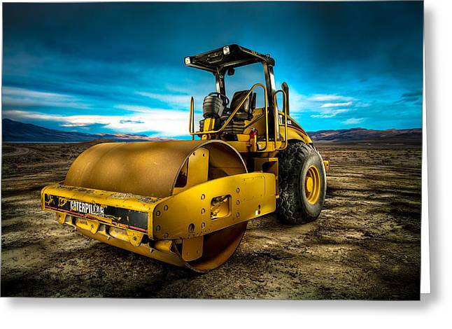 Caterpillar Cat Roller Cs563e Greeting Card by YoPedro