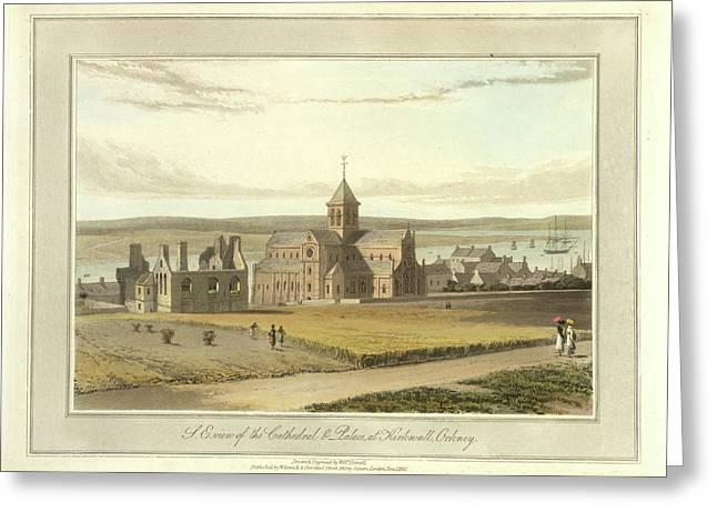Cathedral And Palace At Kirkwall Greeting Card by British Library