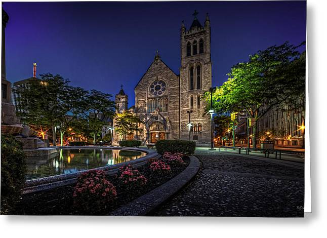 Cathedral At Columbus Circle Greeting Card by Everet Regal