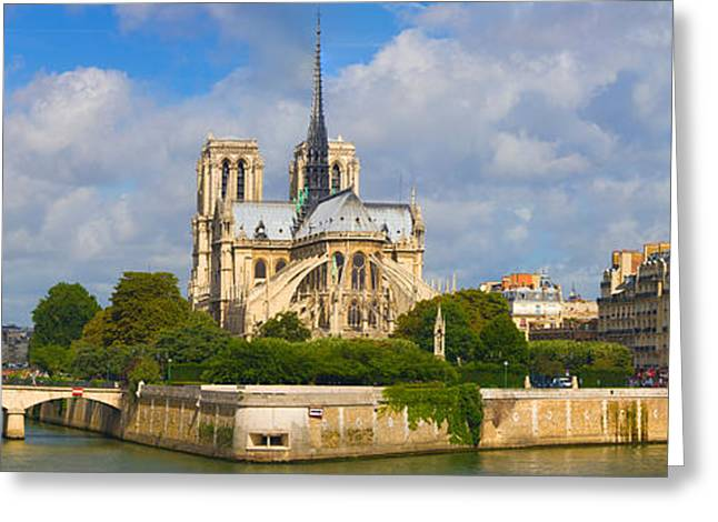 Cathedral At The Riverside, Notre Dame Greeting Card by Panoramic Images