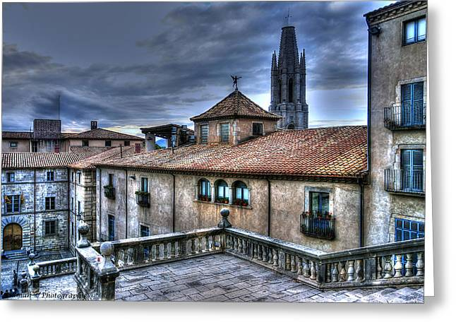Cathedral Banisters Greeting Card by Isaac Silman