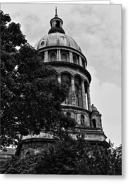 Cathedral Basilica Notre Dame Greeting Card by Aidan Moran