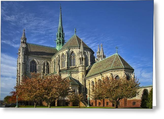 Cathedral Basilica Of The Sacred Heart Greeting Card by Susan Candelario