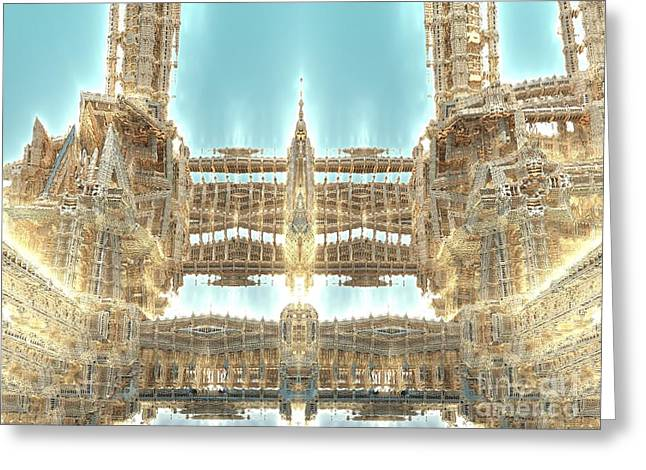 Cathedral Greeting Card by Bernard MICHEL