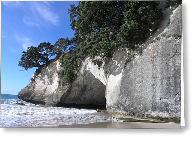 Cathedral Cove Greeting Card