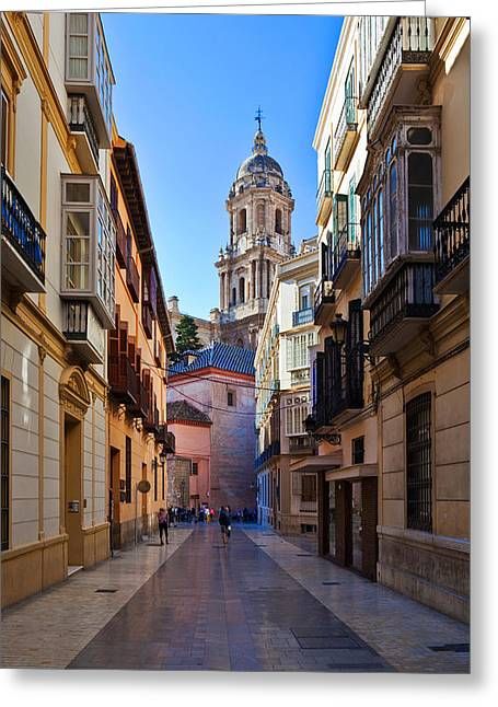 Cathedral De La Encarnation De Malaga Greeting Card by Panoramic Images