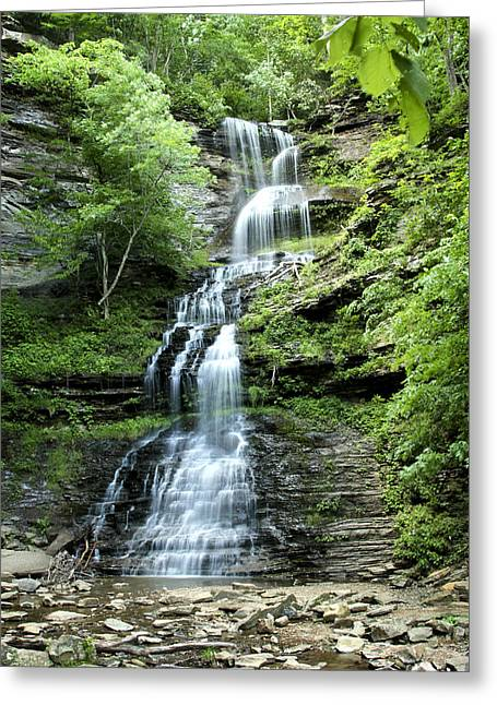 Greeting Card featuring the photograph Cathedral Falls by Robert Camp