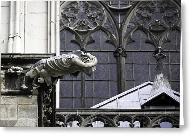 Cathedral Gargoyle 11 Greeting Card by Teresa Mucha