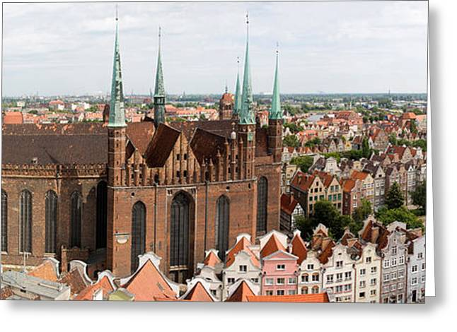 Cathedral In A City, St. Marys Church Greeting Card by Panoramic Images