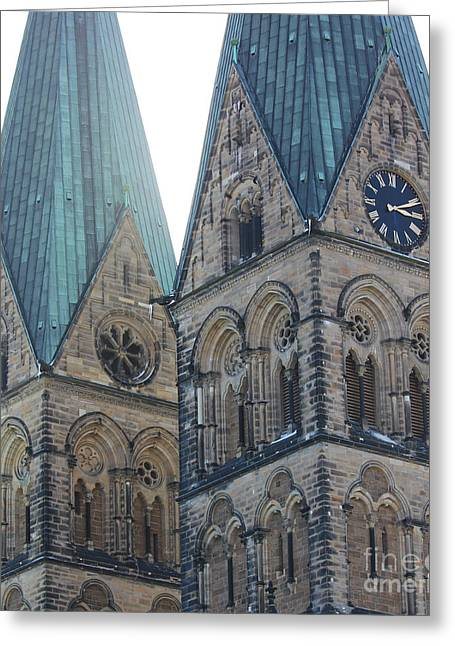 Cathedral In Bremen Greeting Card