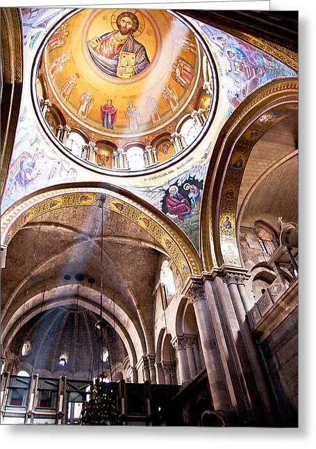Cathedral In Jerusalem Greeting Card by Oleg Koryagin