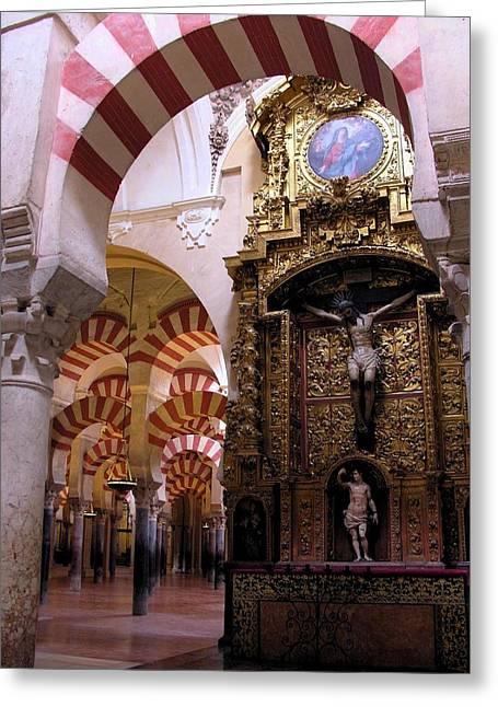 Cathedral In Mezquita Greeting Card by Jacqueline M Lewis