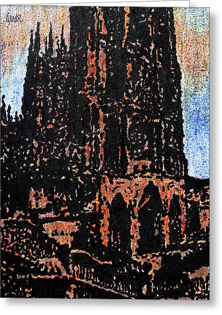 Cathedral In Spring Greeting Card by Oscar Penalber