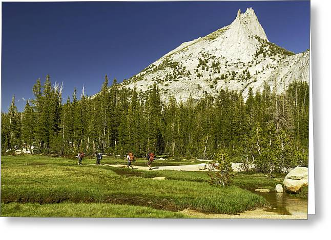 Cathedral Lakes-yosemite Series 17 Greeting Card by David Allen Pierson