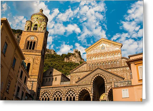 Cathedral Of Amalfi Greeting Card by Gurgen Bakhshetsyan