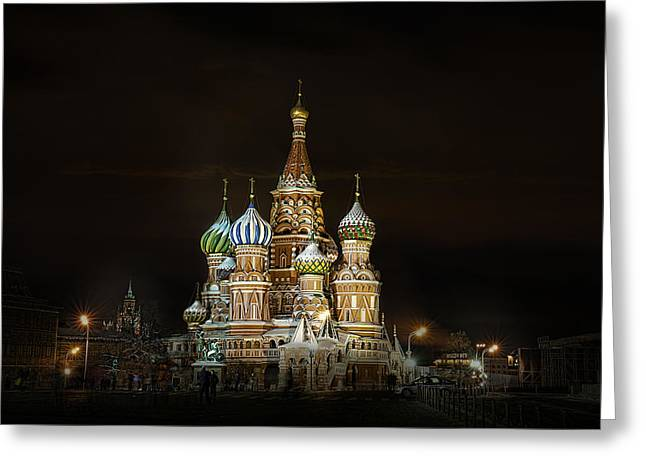 Cathedral Of Basil The Blessed Greeting Card