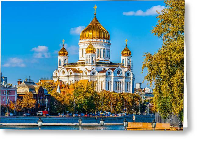 Cathedral Of Christ The Savior - 1 Greeting Card by Alexander Senin