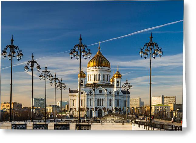 Cathedral Of Christ The Savior 3 - Featured 3 Greeting Card by Alexander Senin