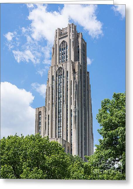 Cathedral Of Learning - Pittsburgh Pa Greeting Card