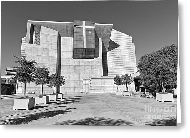 Cathedral Of Our Lady Of The Angels In Los Angeles. Greeting Card by Jamie Pham