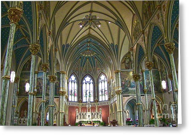 Cathedral Of Saint John The Baptist Greeting Card by D Wallace