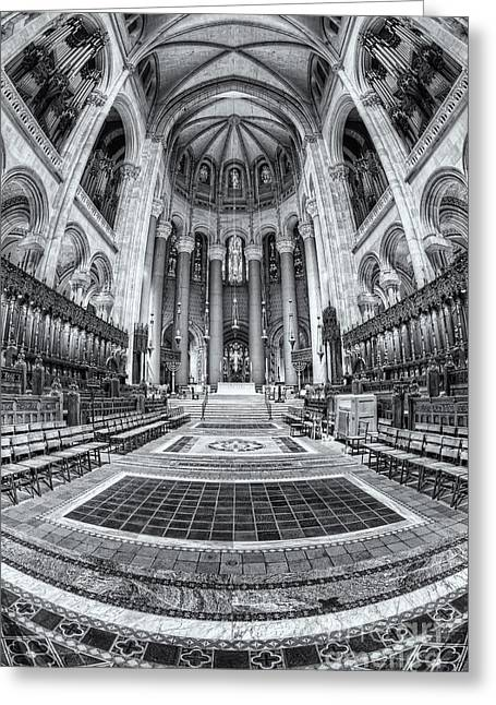 Cathedral Of Saint John The Divine Iv Greeting Card by Clarence Holmes