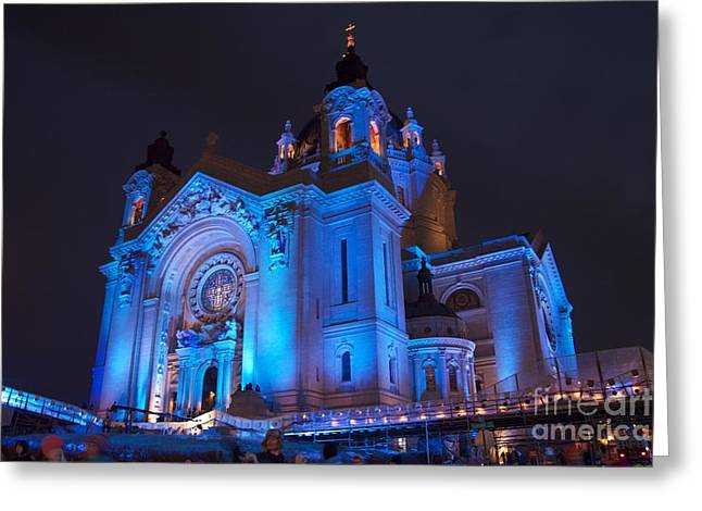 Cathedral Of Saint Paul - Crashed Ice Greeting Card by Kevin Jack