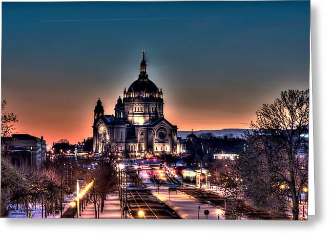 Cathedral Of Saint Paul Greeting Card by Amanda Stadther